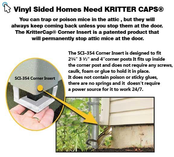Kritter Cap Stop Mice In The Attic Kritter Cap Keep